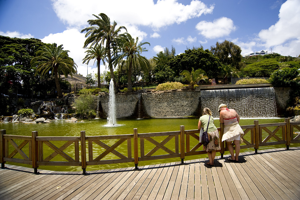 Parque Doramas is a public attraction with tourists in Gran Canaria