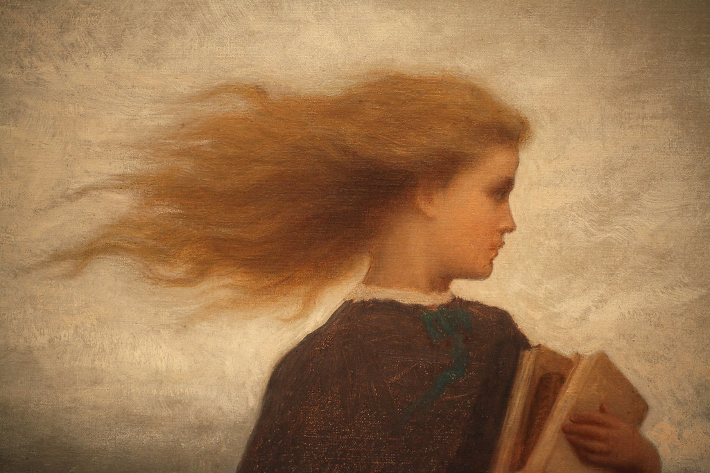 The Girl I Left Behind Me By Eastman Johnson Detail Flickr