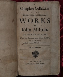 Milton -Complete Works 1698 - titlepage | by AndyBrii