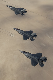 Three F-35As in flight | by Lockheed Martin
