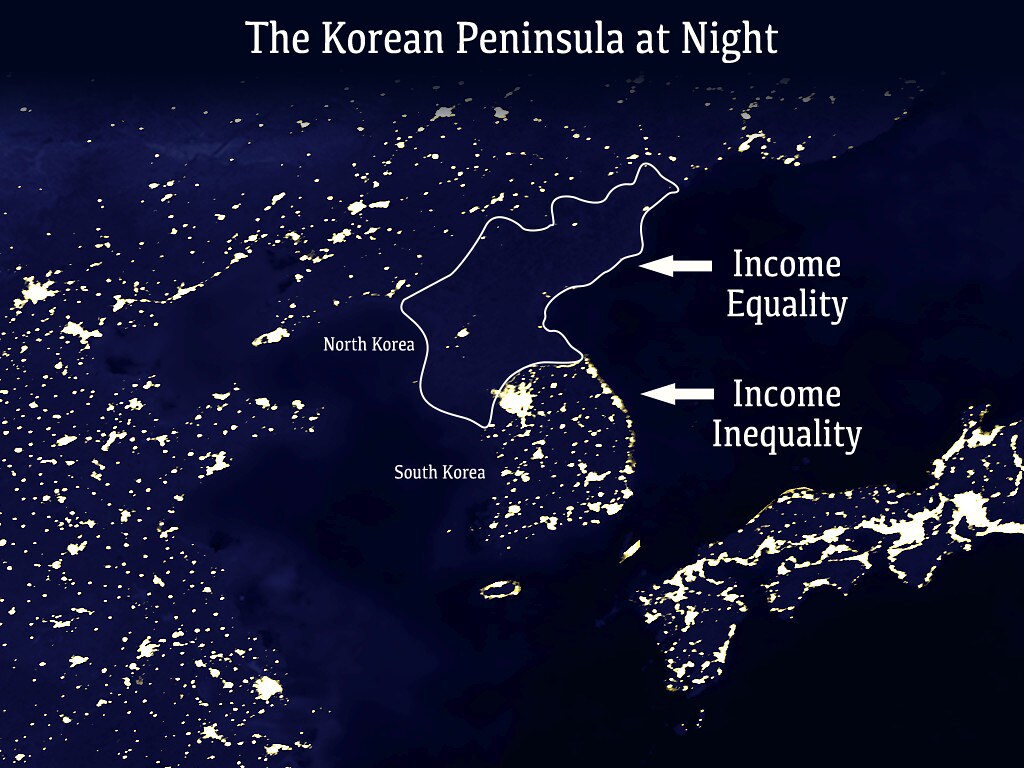Korean peninsula at night johnnyshop flickr korean peninsula at night by johnnyshop gumiabroncs Choice Image