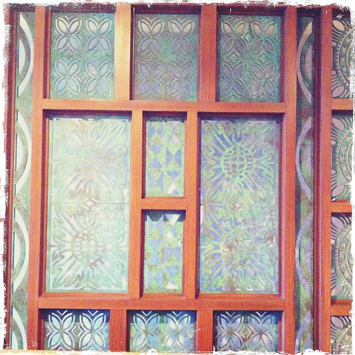 patterns in room divider at the Turtle Bay Resort Hawaii | by treiCdesigns