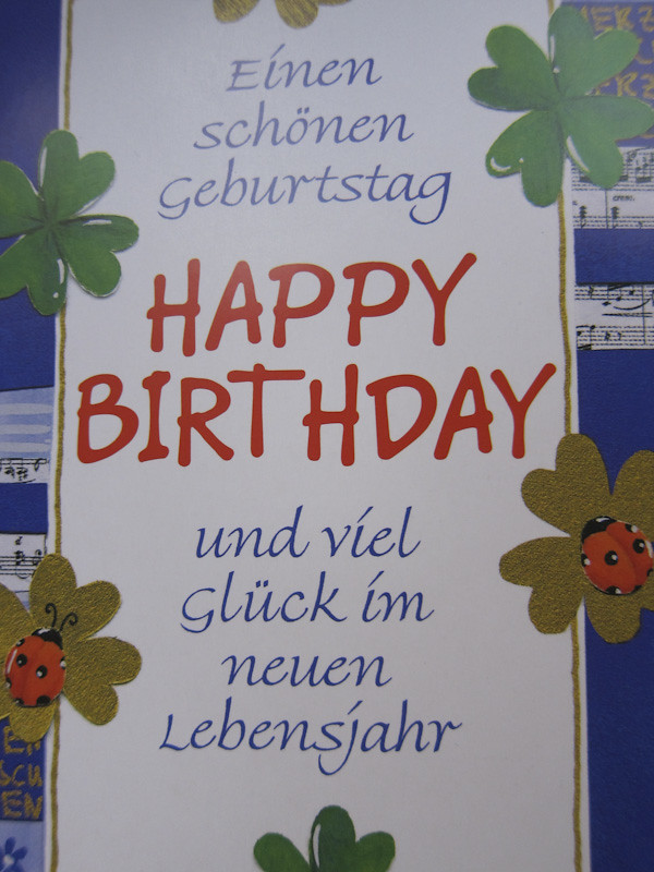 Happy Birthday Card In German Berlin Lisa T Flickr