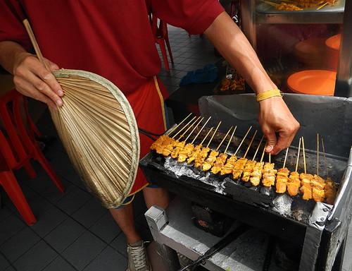 satay: Malaysian barbeque
