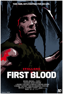 FIRST BLOOD, 30th anniversary poster | by James Whíte