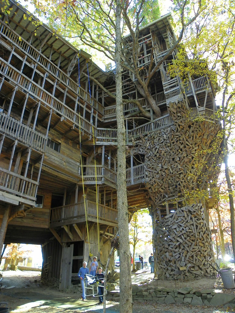 side view of the worlds largest treehouse by j stephen conn