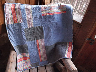 Jake 39 s quilt back quilt made of 95 recycled fabrics for Jake quilted bedding