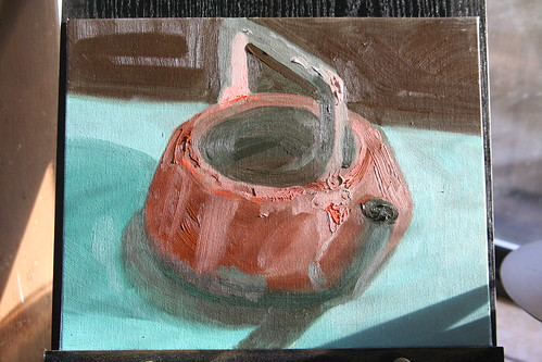 Copper Kettle Study 2: Viridian and Red Orange Only | by SarabellaE / Sara / Love in the Suburbs