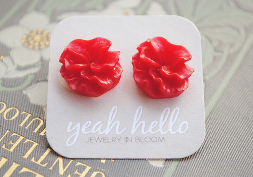 Red Sea Blossom Earrings | by yeahhelloetsy