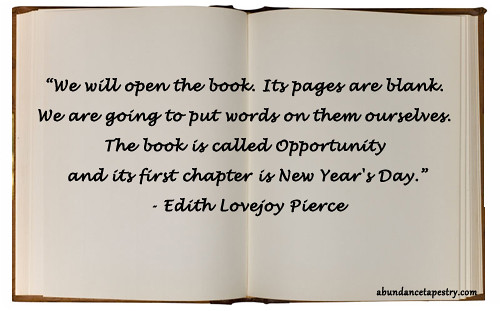 new year quote book is called opportunity by evelynlimcoach
