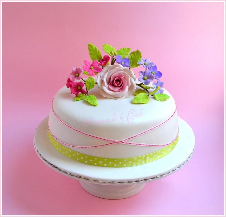 Spring flower cake ccile crabot flickr spring flower cake by fantasticakes ccile mightylinksfo