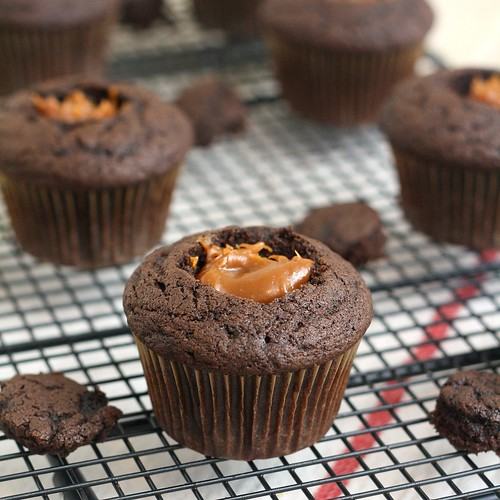 Peanut Butter Dulce de Leche Cupcakes | by Tracey's Culinary Adventures