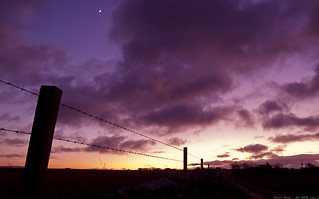 Sunset Fence 27th-Jan-12 | by linlaw39