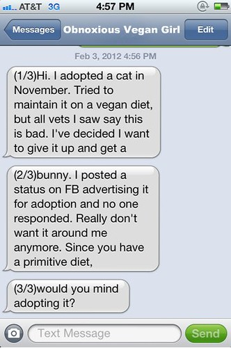 Do any of your little meat-eating friends want a cat? (Part 1) | by passiveaggressivenotes