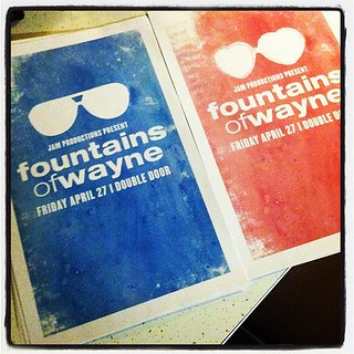 His 'n hers Fountains of Wayne posters. | by Brick Winnebago
