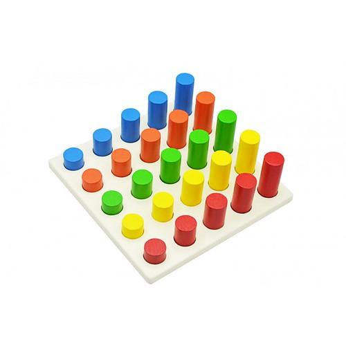 Đồ chơi gỗ - Hình học -  Tấm ghép hình tròn cao thấp