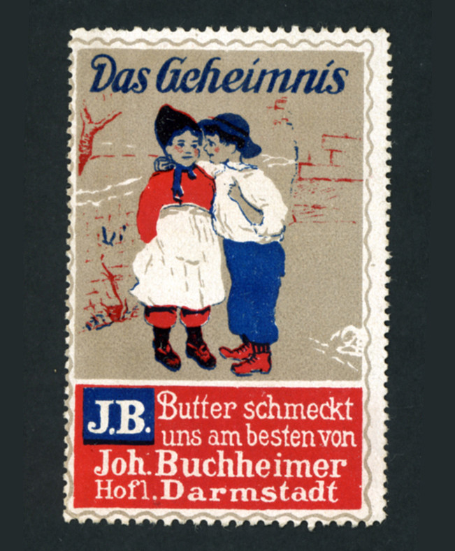 Poster Stamp JB Butter Darmstadt Reklame