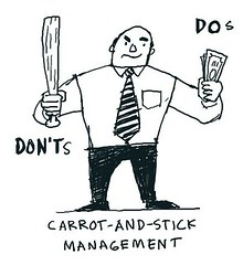 Carrot-and-stick management   The industrial era was built o…   Flickr