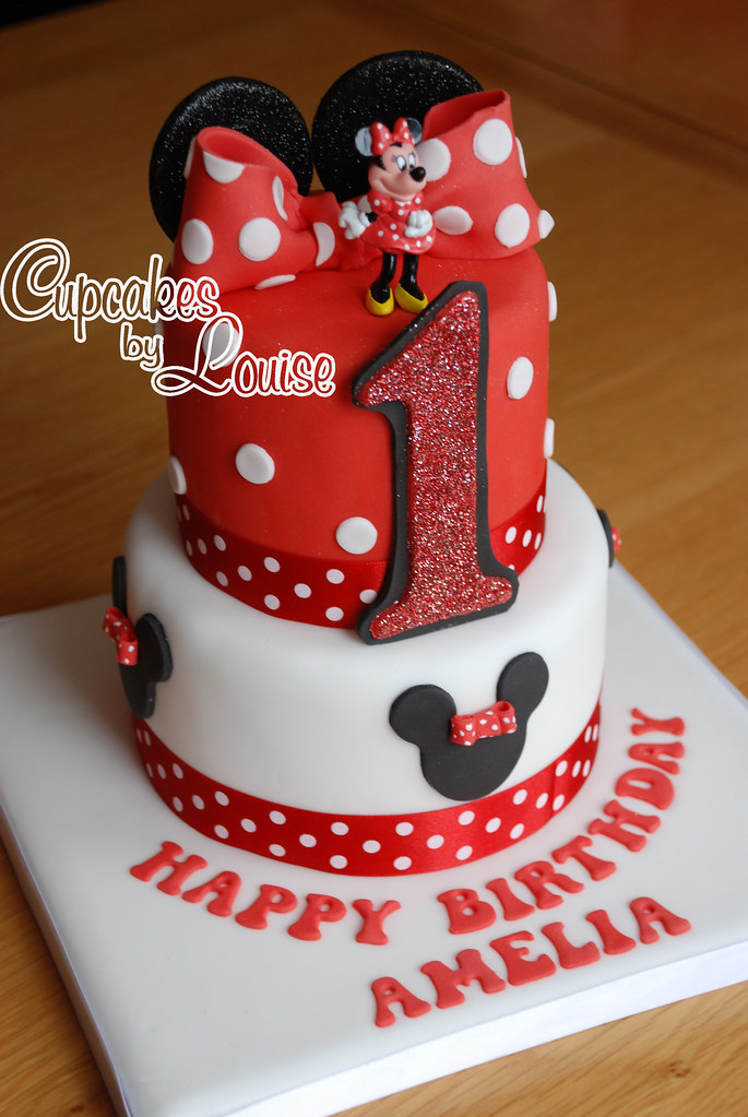 2 tier Minnie Mouse cake LOUISE M Flickr