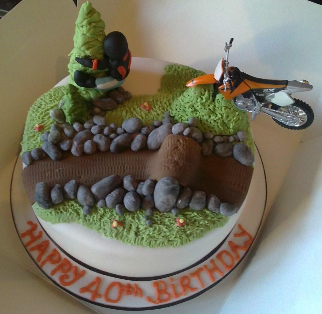 ICED KTM motocross birthday cake Lorraine Hampton Flickr