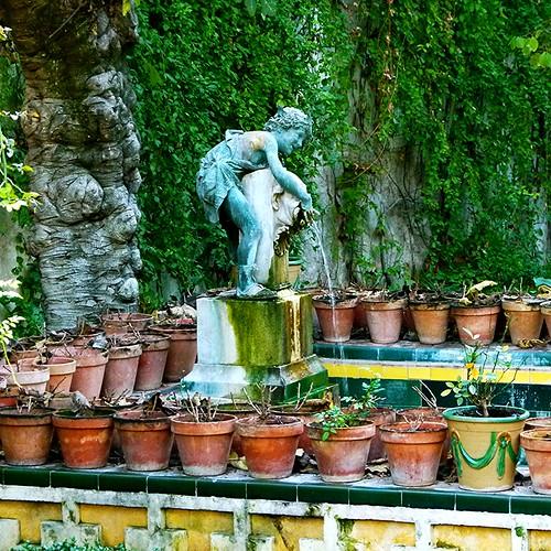 Casa de pilatos sevilla jard n chico escultura de be for Jardin chico casa