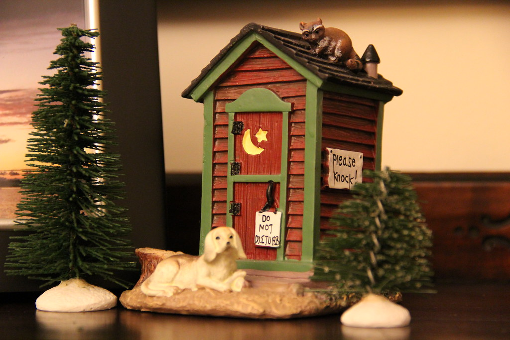 walmart christmas village outhouse by island girl talk