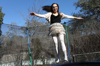 Zoe on the trampoline | by Célèste of Fashion is Evolution