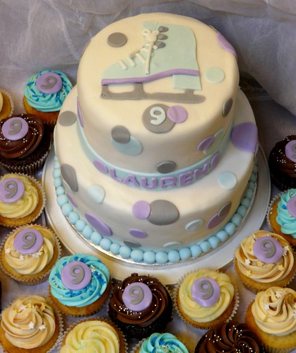 Ice Skate Sugar Cake Decorations