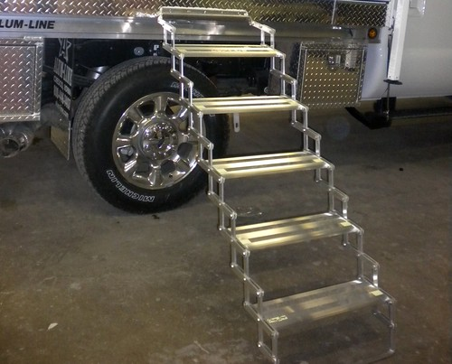 Scissor Steps | by Northstar Truck Campers