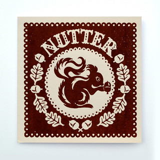 Hand Screen Printed 'Nutter' Card | by Alexandra Snowdon