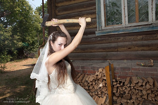 Bride with axe | by alexey05
