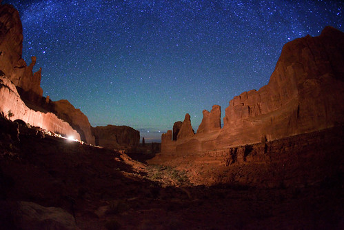 "Park Avenue - Arches - light painting set-up | by IronRodArt - Royce Bair (""Star Shooter"")"