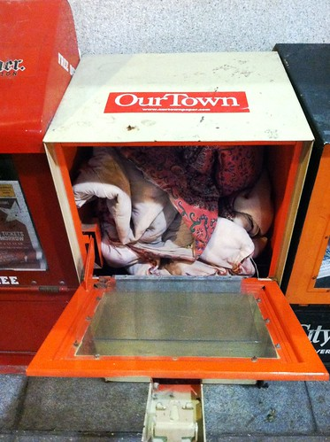 Blanket stuffed In Metro Center newspaper box | by DC_UPTOWN4IFE