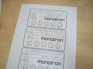 Korg Monotron Patch Sheet | by Nick Ames