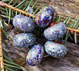 fields of lavender handmade glass beads | by Silverfish Designs