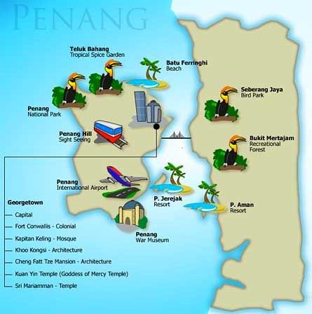 Map of Penang Malaysia 2011 Penang State NW Malaysia c Flickr