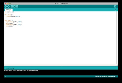 Arduino ide on the mac graphical integrated