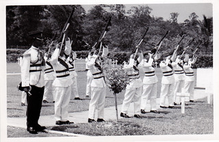 1960_02_Major_Wedderburn_Singapore_salute | by Valmay Young
