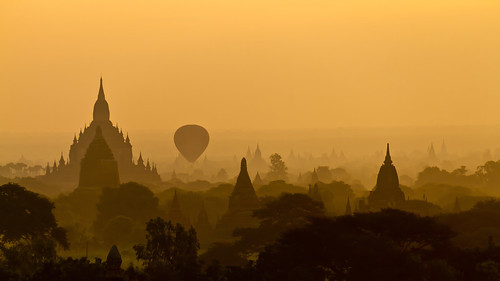 Balloon at Bagan sunrise - Myanmar (Burma) | by Steven Goethals