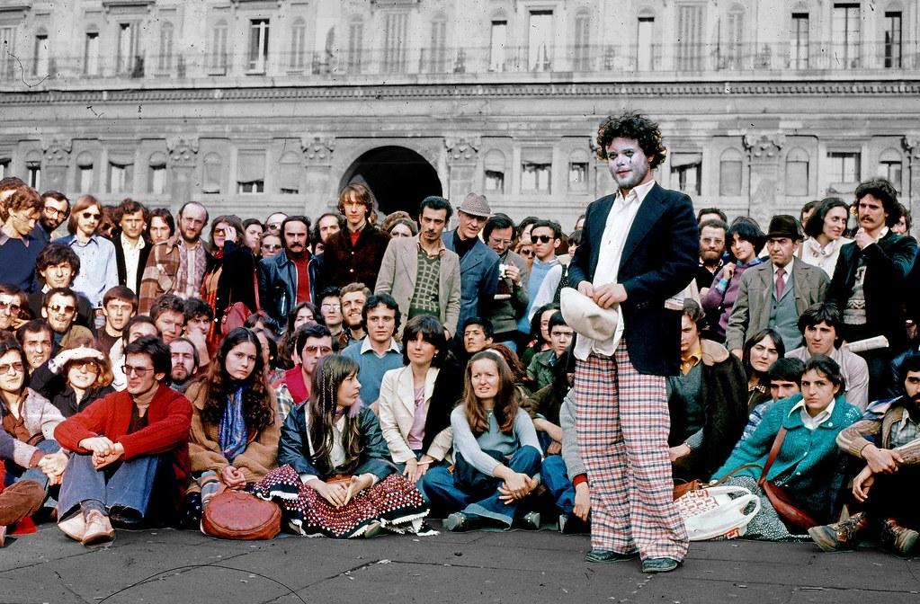 Manifestation étudiante en 1977 à Bologne