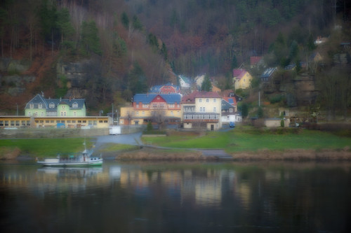 Houses along the Elbe River in the German countryside, Germany, Europe | by jackie weisberg