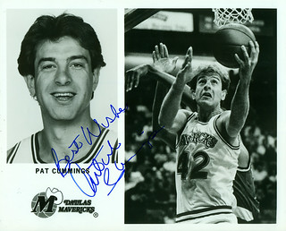Pat Cummings, Dallas Mavericks, Autographed 8x10 Photo | by Joe Merchant