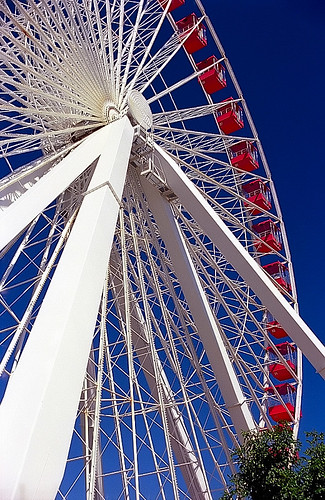 "Chicago - Navy Pier ""Ferris Wheel - Spokes"" 