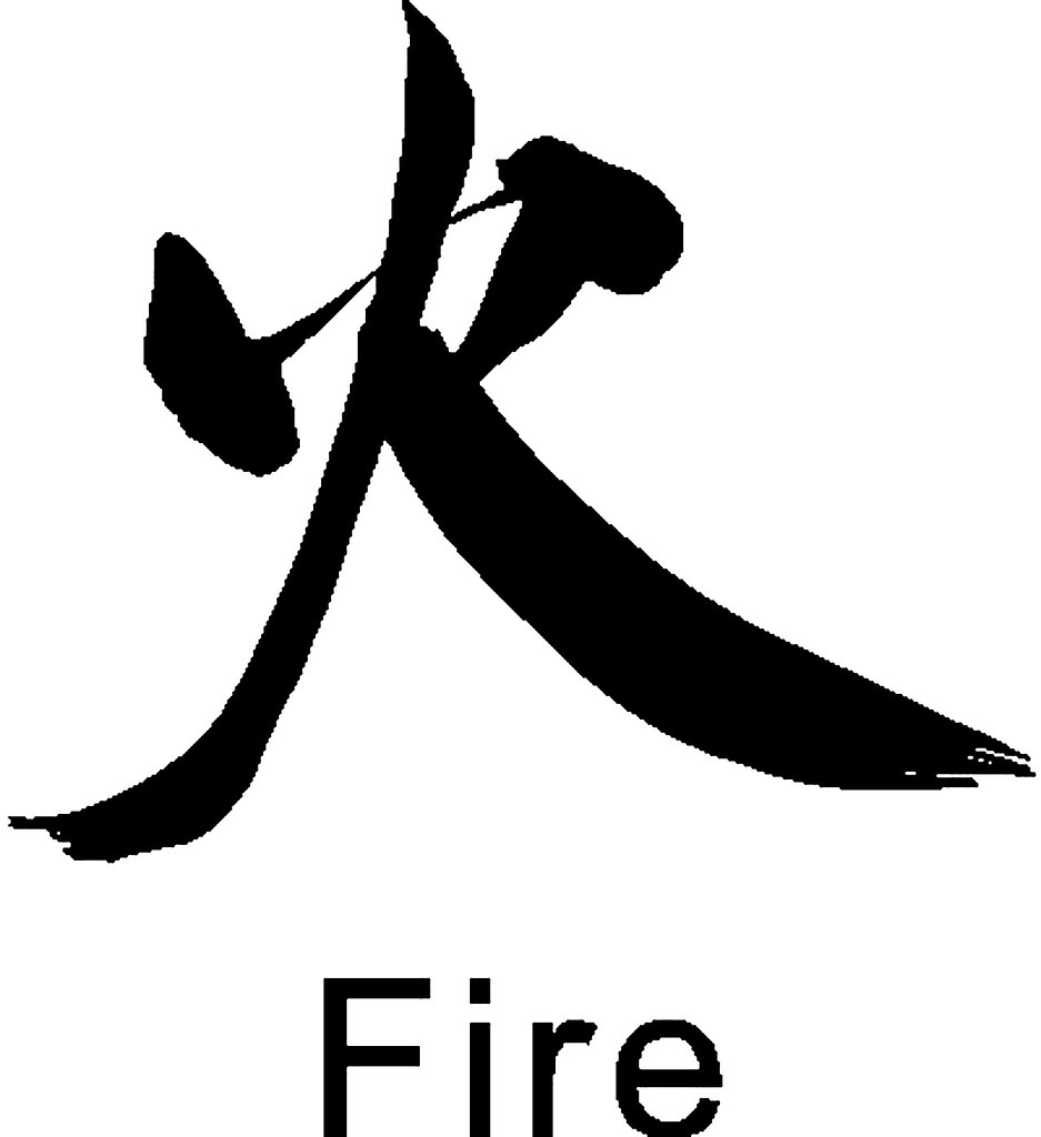 Japanese Symbol For Fire Chantelle Creativecolours Flickr