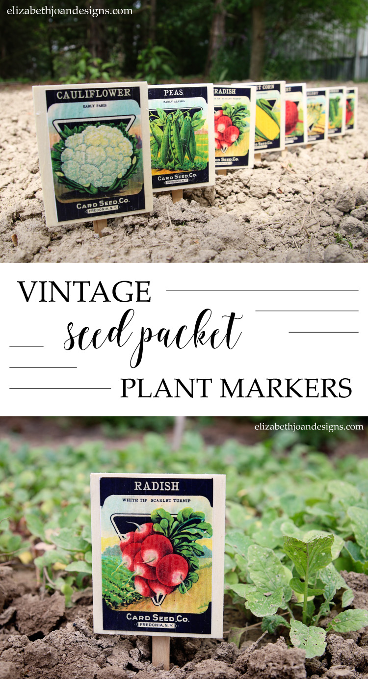 Vintage Seed Packet Plant Marker a great 5 minute craft that adds cute decor to your garden