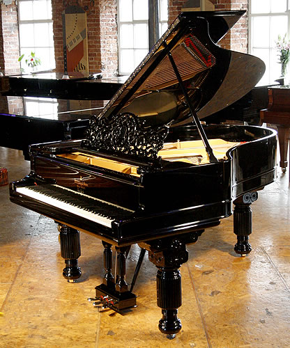 An 1878, antique Steinway Model A grand piano with a black… | Flickr