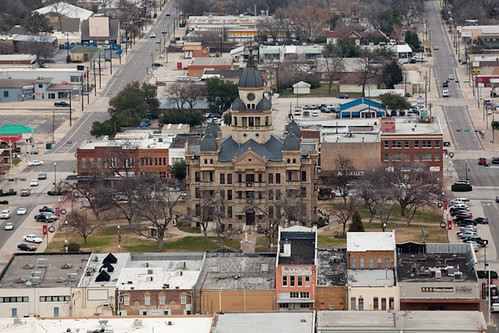 Downtown Denton Aerial | @chelseastratso | Chelsea Stratso