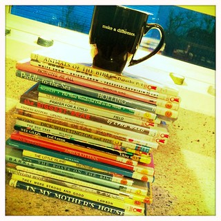 My first stack for the Caldecott Challenge | by MrSchuReads