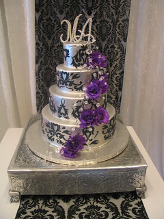 4 Tier Wicked Chocolate Wedding Cake Iced In Silver Chocol