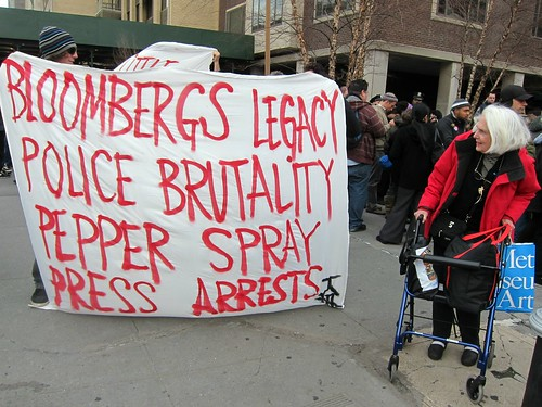 Occupy Wall Street: J6, Occupy Bloomberg's Block to Protest Press Arrests, Bloomberg's Legacy | by Scoboco